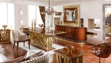 543 - Lüks Leopar Klasik Yemek Odası