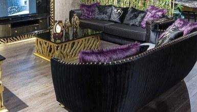 Lüks Leopar Siyah Luxury Koltuk Takımı - Thumbnail