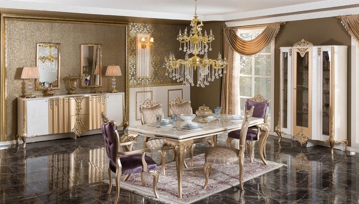 Lüks Letizya Klasik Yemek Odası