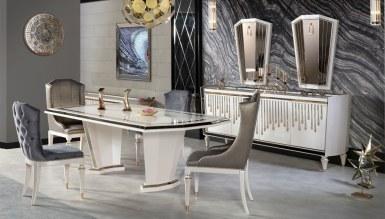 1022 - Lüks Levora Metal Yemek Odası