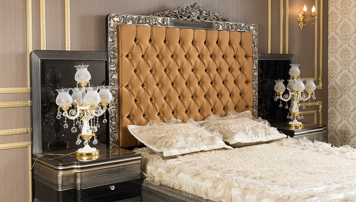 Lüks Lome Klasik Yatak Odası