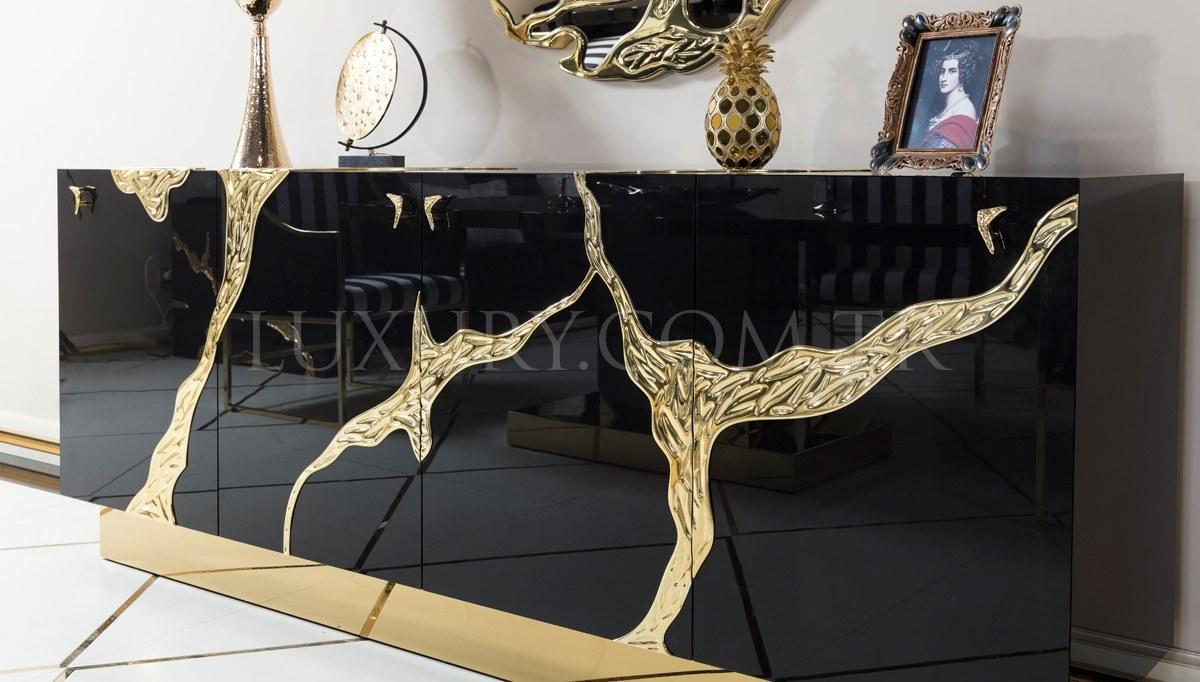Lüks Luxury Metal Yemek Odası