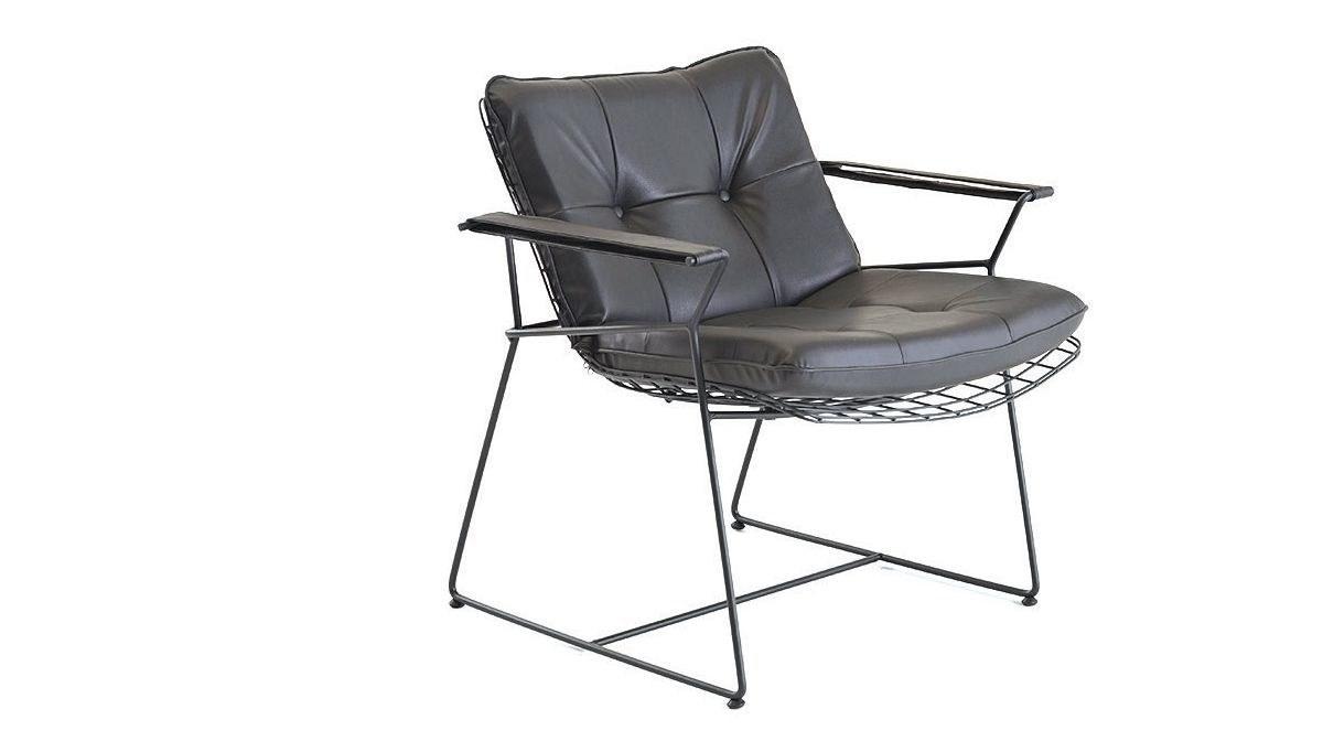 Lüks Makem Kısa Metal Sandalye