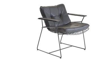 920 - Lüks Makem Kısa Metal Sandalye