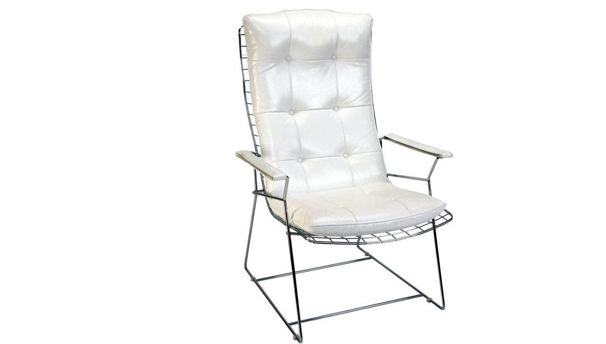 Lüks Makem Uzun Metal Ayaklı Sandalye