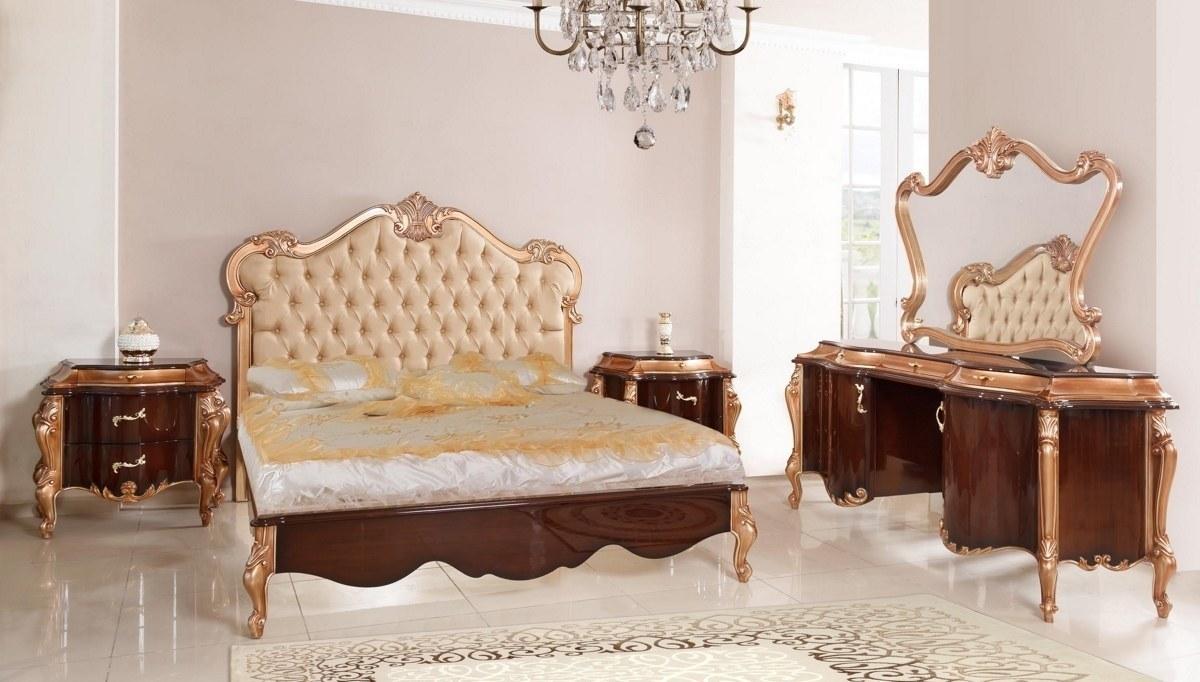 Lüks Markus Ceviz Klasik Yatak Odası