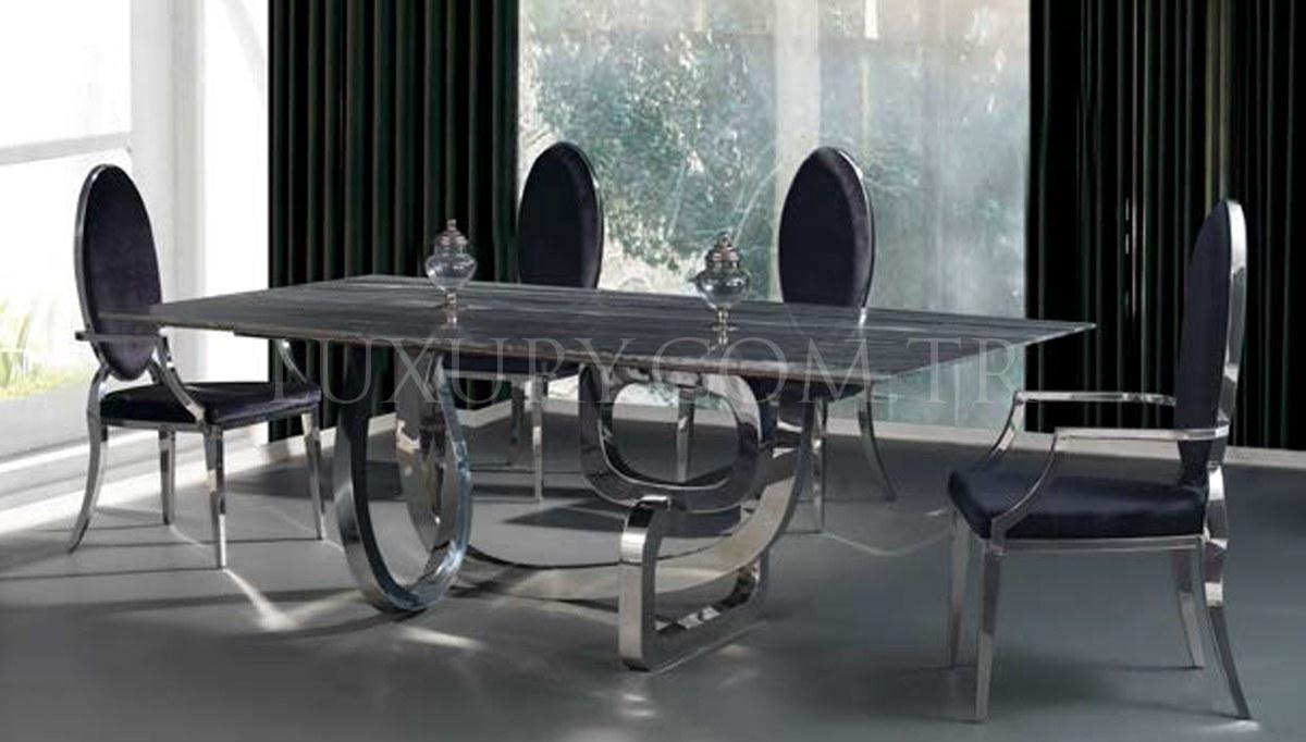 Lüks Maseras Metal Yemek Masası