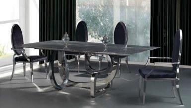 985 - Lüks Maseras Metal Yemek Masası
