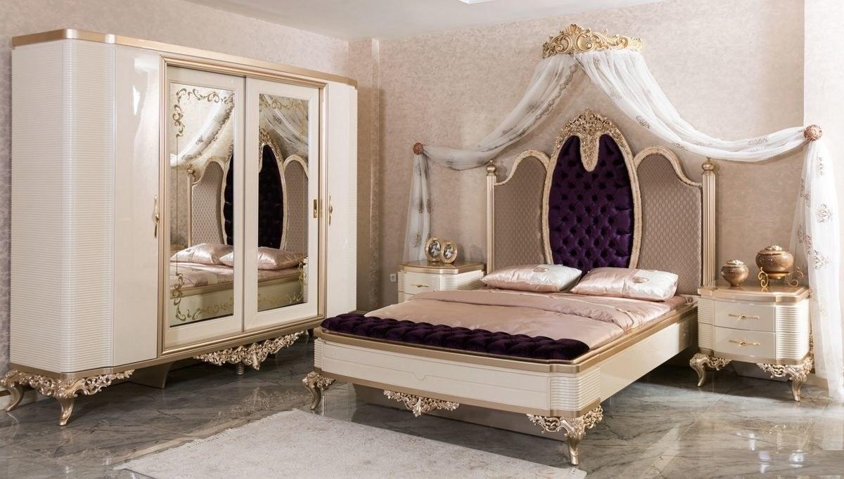 Lüks Masiva Klasik Yatak Odası