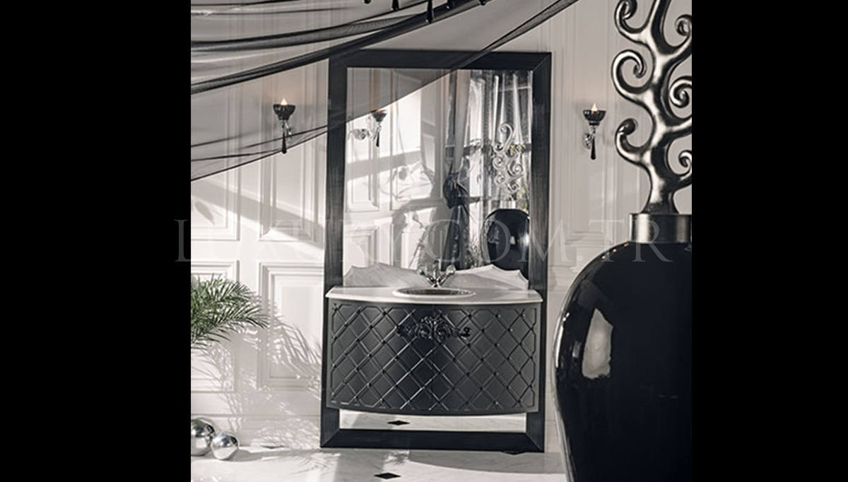 Lüks Matered Siyah Klasik Banyo Takımı