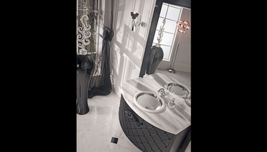 Lüks Matered Siyah Klasik Banyo Takımı - Thumbnail