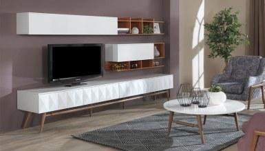 066 - Lüks Mazora Beyaz TV Ünitesi
