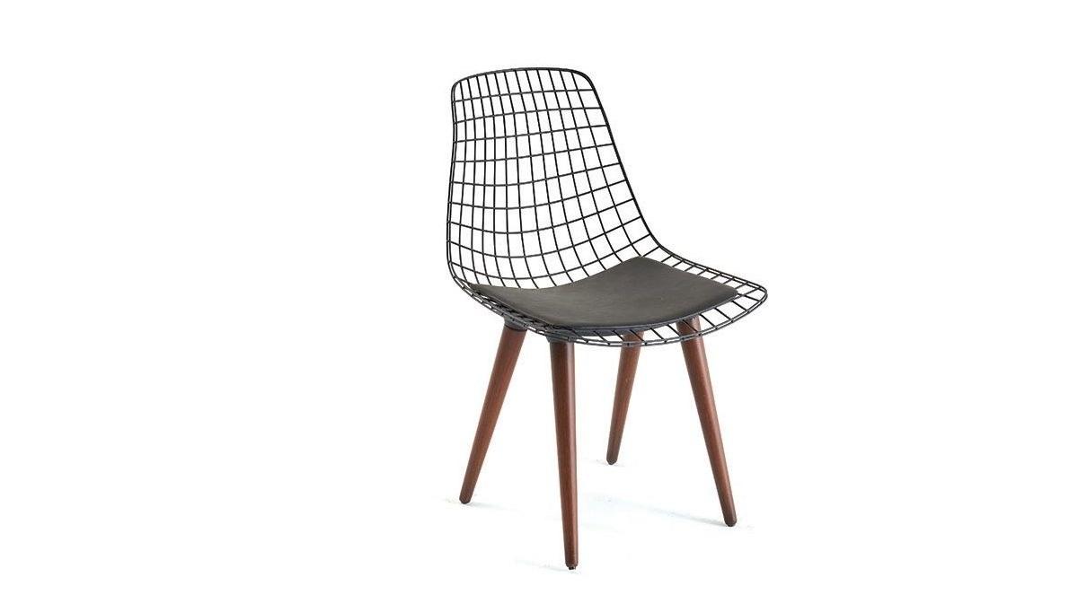 Lüks Medin Ahşap Ayaklı Sandalye