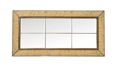 913 - Lüks Merales Gümüş Eskitme Ayna