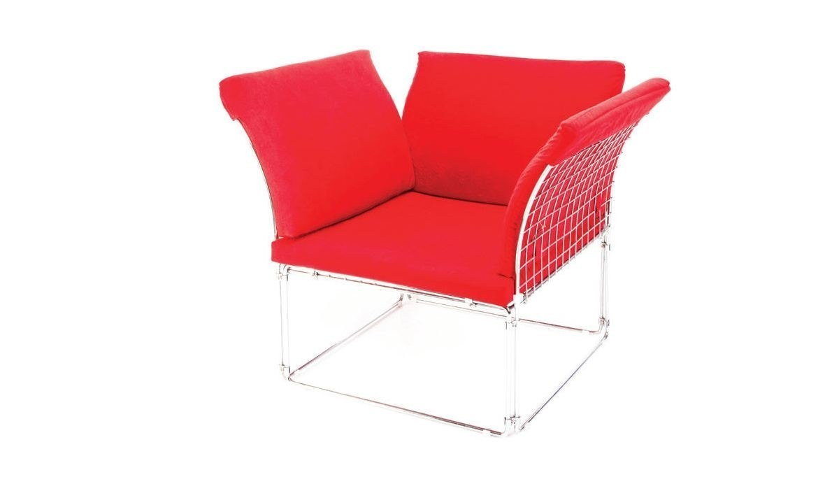 Lüks Meta U Ayaklı Kırmızı Sandalye
