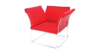 920 - Lüks Meta U Ayaklı Kırmızı Sandalye