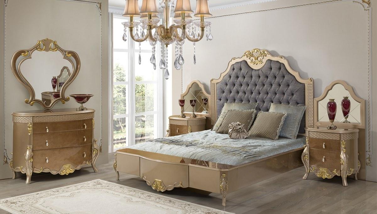 Lüks Mezotan Klasik Yatak Odası