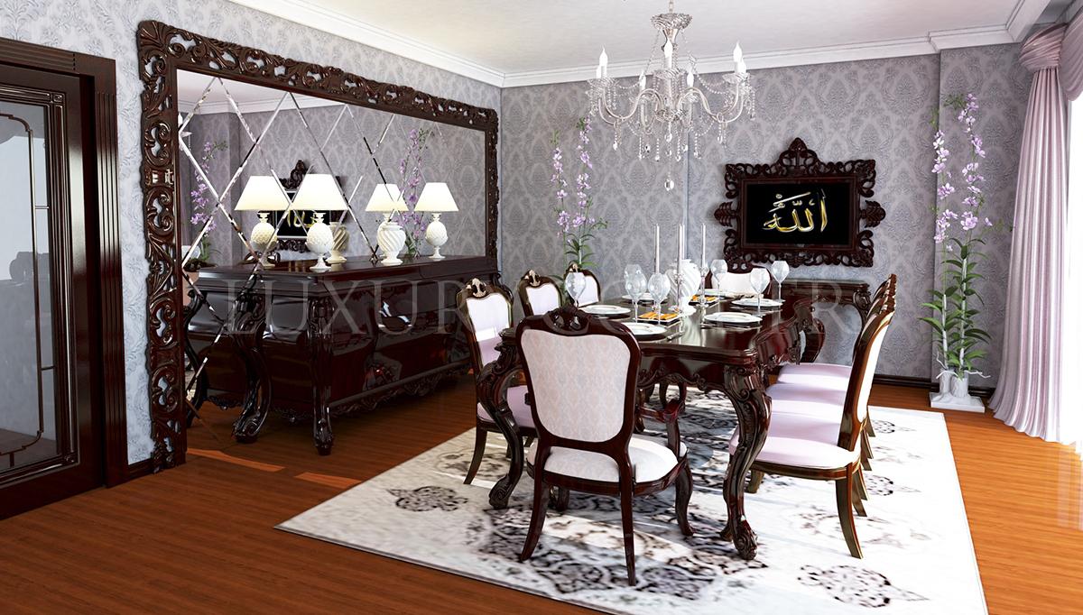Lüks Miramar Klasik Yemek Odası