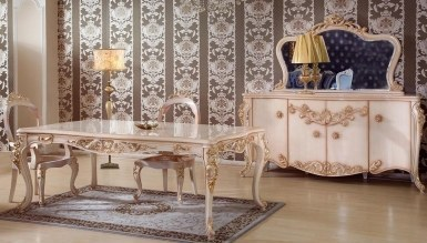 866 - Lüks Miraye Klasik Yemek Odası