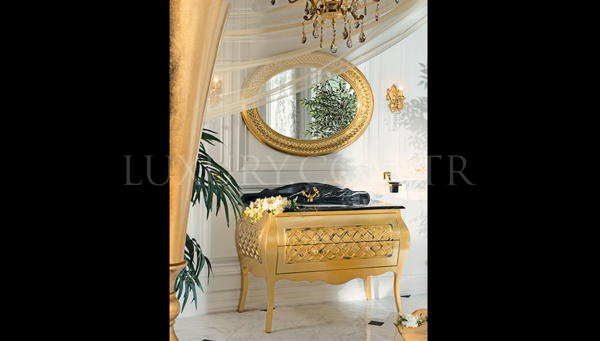 Lüks Mistake Altın Klasik Banyo Takımı