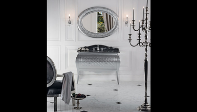 Lüks Mistake Gümüş Klasik Banyo Takımı - Thumbnail
