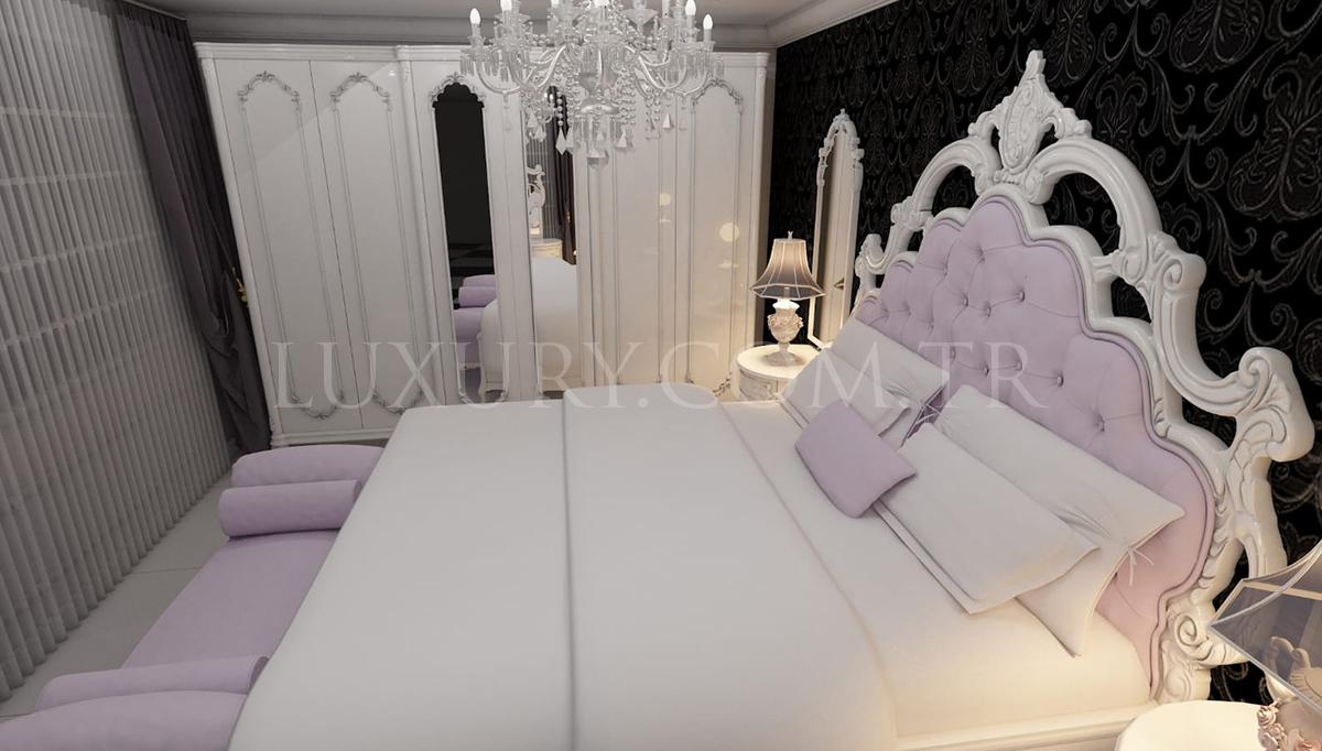 Lüks Mons Klasik Yatak Odası