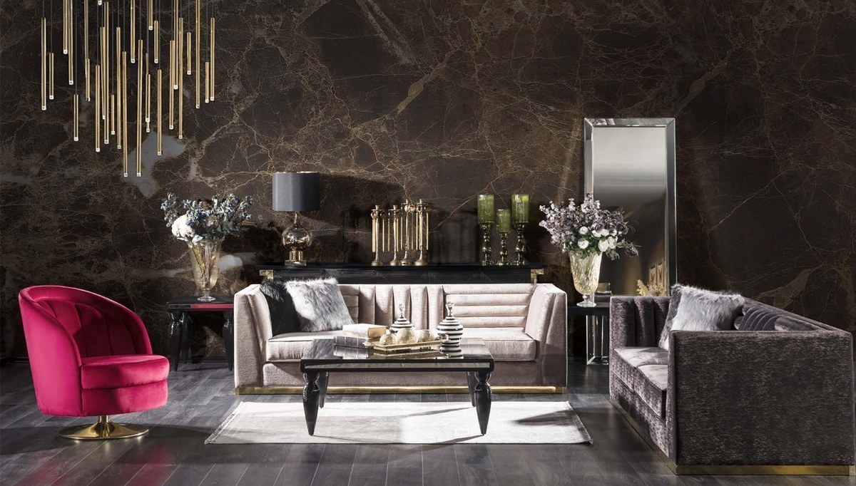 Lüks Napolyone Art Deco Koltuk Takımı