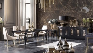 931 - Lüks Napolyone Art Deco Yemek Odası