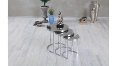 Lüks Nedoha Gümüş Zigon Sehpa - Thumbnail