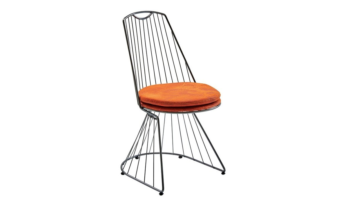 Lüks Nutuk Metal Ayaklı Sandalye