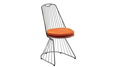 920 - Lüks Nutuk Metal Ayaklı Sandalye