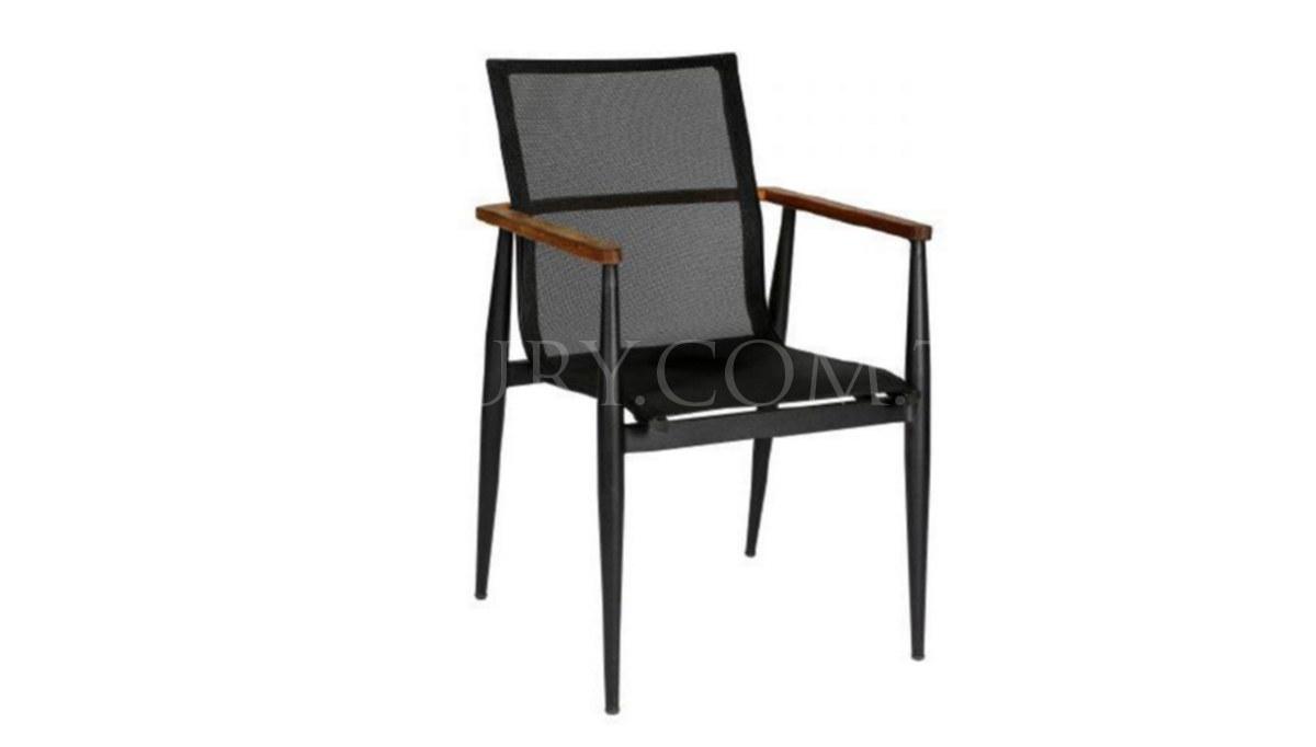 Lüks Ofcal Siyah Metal Ayaklı Sandalye
