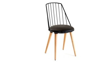920 - Lüks Oflu Ahşap Ayaklı Sandalye