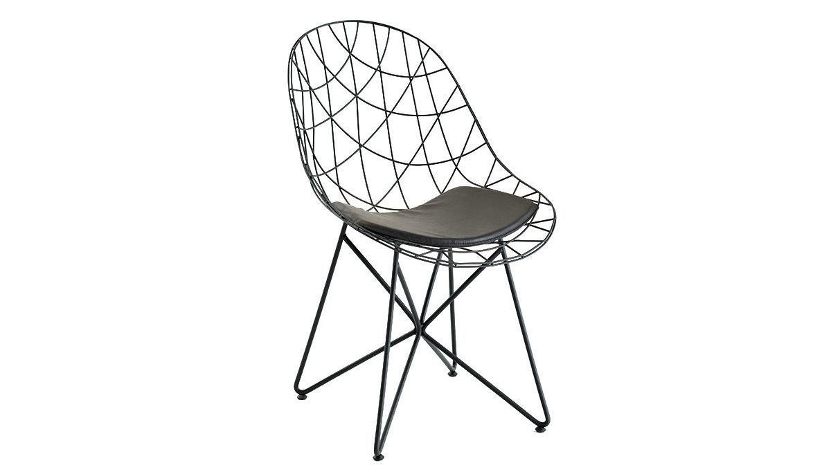 Lüks Orumcek Metal Ayaklı Sandalye