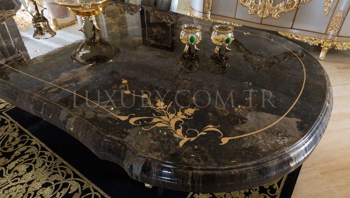 Lüks Ottoman Antrasit Yemek Odası