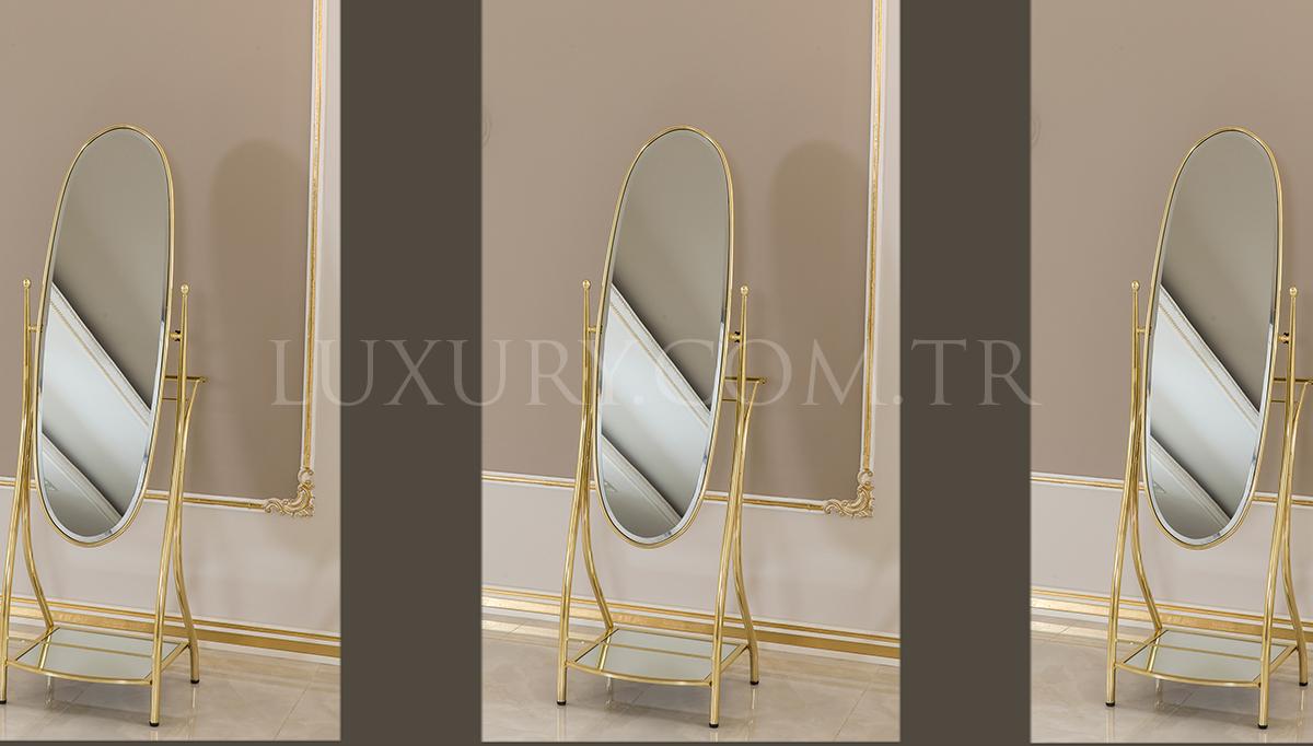 Lüks Oval Pirinç Ayna