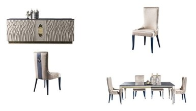 Lüks Palazza Art Deco Yemek Odası - Thumbnail