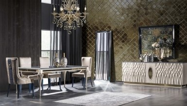 931 - Lüks Palazza Art Deco Yemek Odası