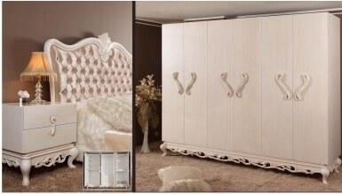 Lüks Pamera Klasik Yatak Odası - Thumbnail