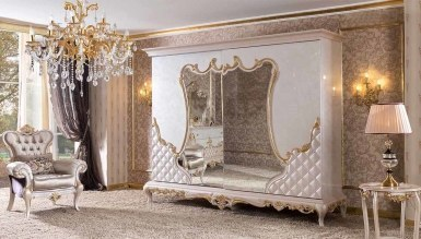 Lüks Parselo Klasik Yatak Odası - Thumbnail