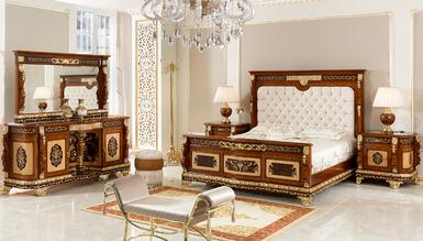 Lüks Partes Klasik Yatak Odası - Thumbnail