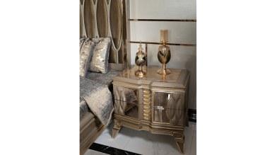 Lüks Petrona Gold Yatak Odası - Thumbnail