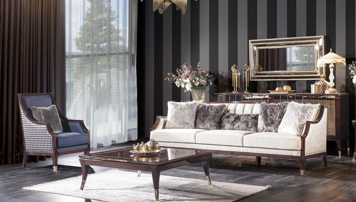 Lüks Pezella Art Deco Koltuk Takımı