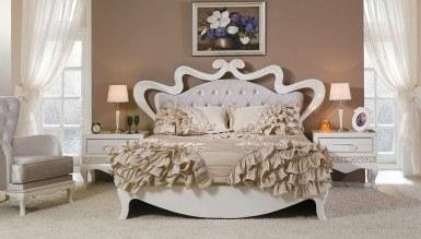 Lüks Pirema Klasik Beyaz Yatak Odası - Thumbnail