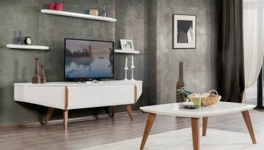 478 - Lüks Resma Raflı TV Ünitesi