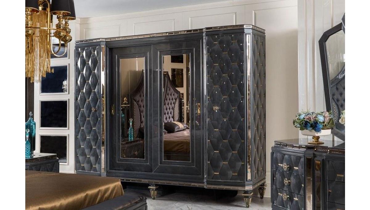 Lüks Retrona Art Deco Yatak Odası