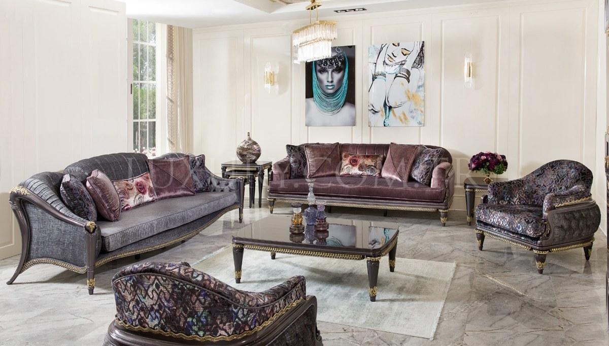 Lüks Revona Art Deco Koltuk Takımı