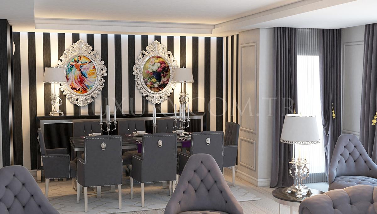 Lüks Roblin Luxury Yemek Odası