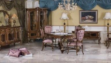 785 - Lüks Romaya Ceviz Klasik Yemek Odası
