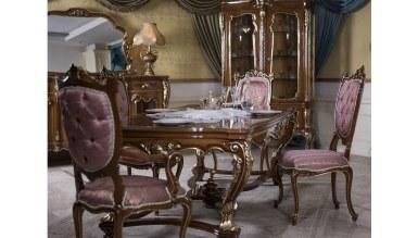 Lüks Romaya Ceviz Klasik Yemek Odası - Thumbnail